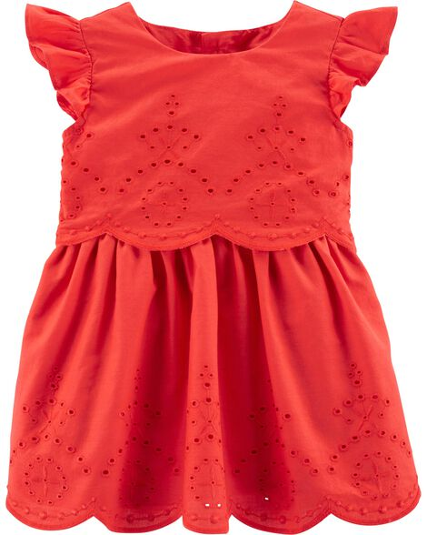 Flutter Eyelet Dress