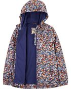 Ditsy Floral Fleece-Lined Lightweight Jacket, , hi-res