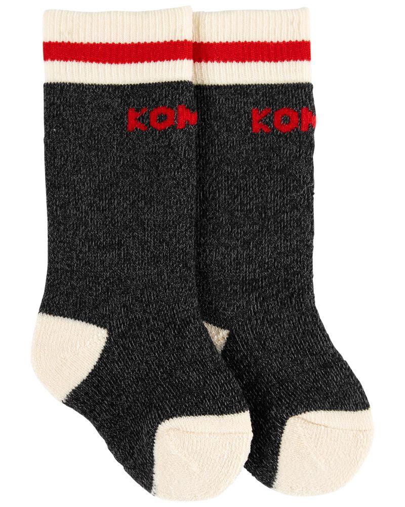 Chaussettes pour bébé motif camping Kombi, , hi-res
