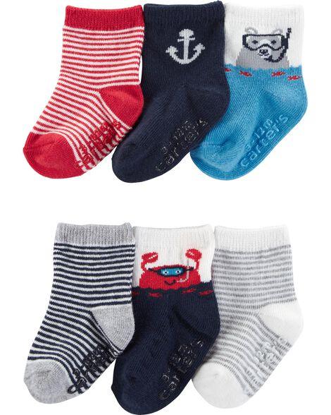 6 paires de chaussettes à personnages