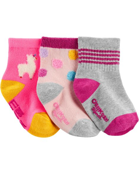 3 paires de chaussettes mi-mollet à lama