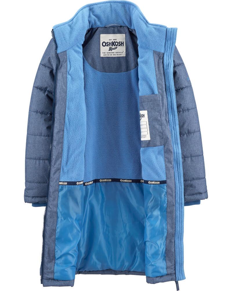 Fleece-Lined Heavyweight Hooded Coat, , hi-res