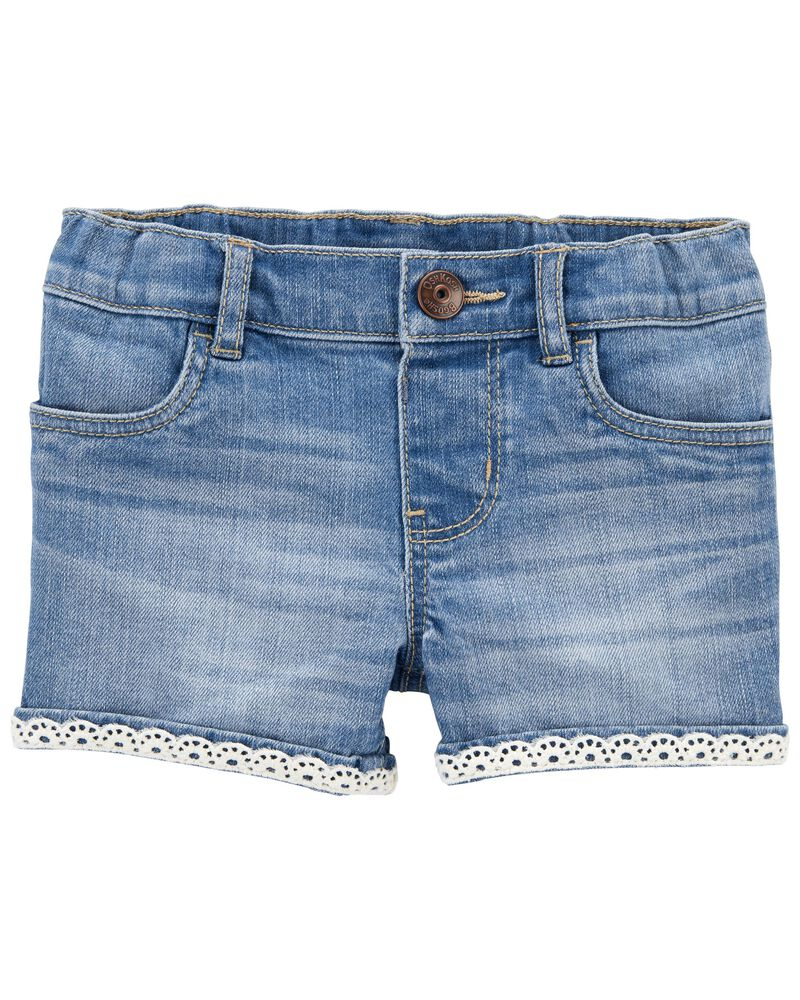 Stretch Denim Shorts in Nineties Wash, , hi-res