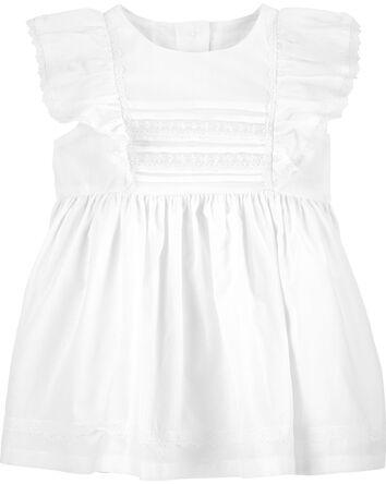 Pintuck Lace Dress