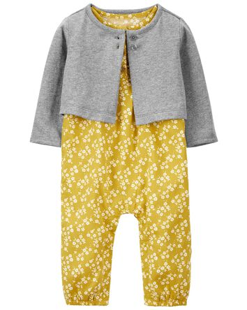 2-Piece Cardigan & Jumpsuit Set