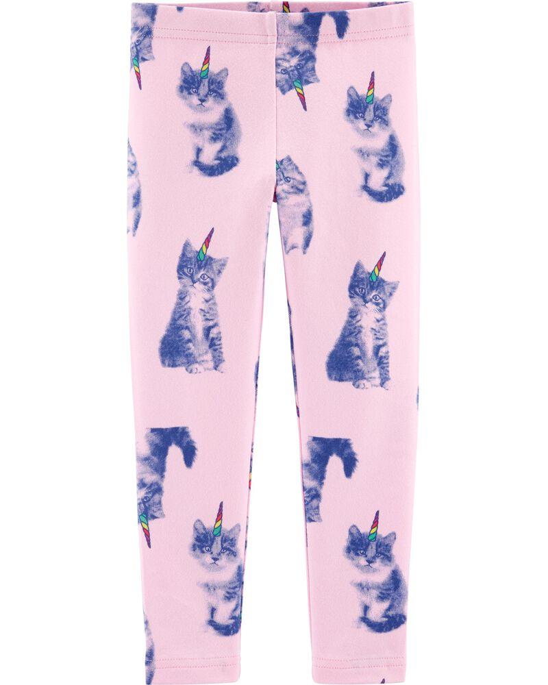 Legging en jersey à chat licorne, , hi-res