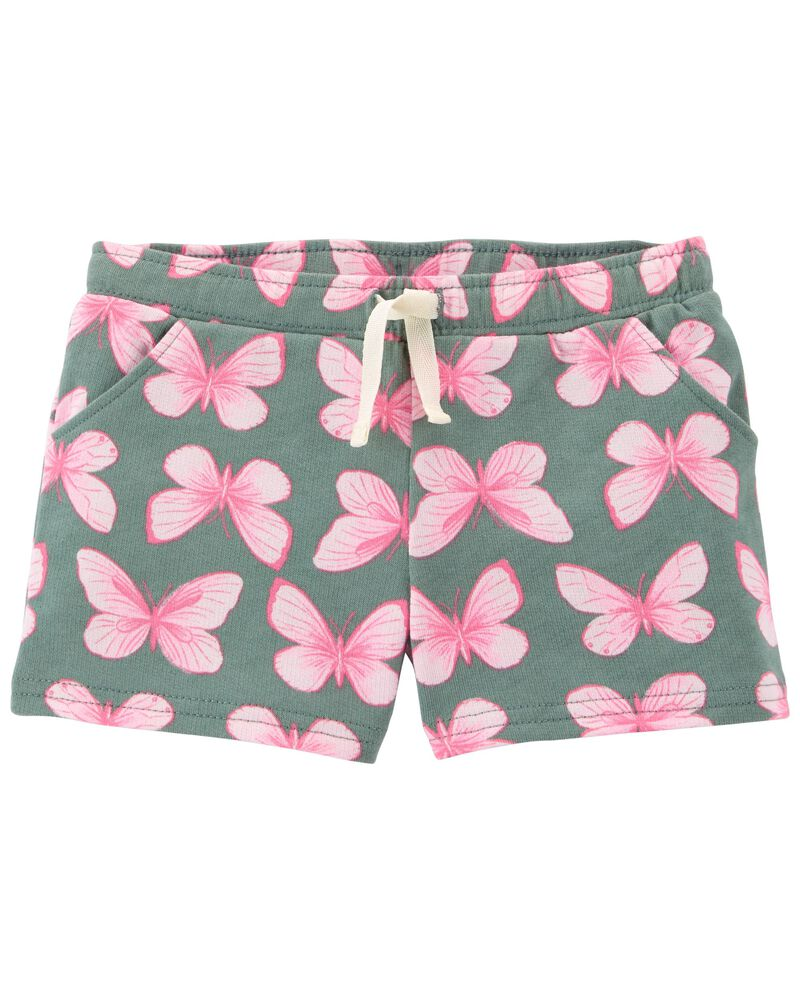 Pull-On Butterfly Shorts, , hi-res