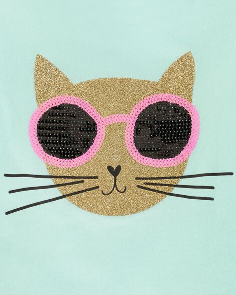 Cat Glitter Tee