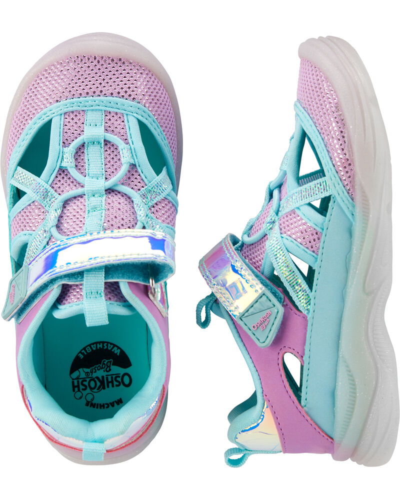 OshKosh Purple Bump Toe Sandals, , hi-res