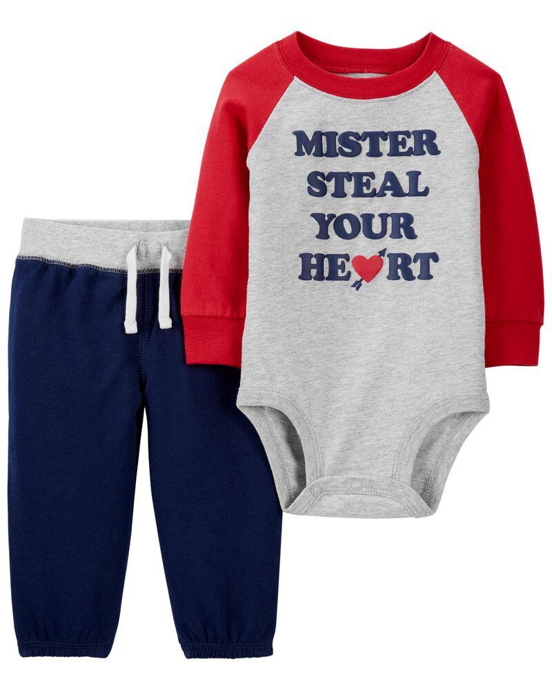 Ensemble 2 pièces t-shirt et pantalon Saint-Valentin, , hi-res