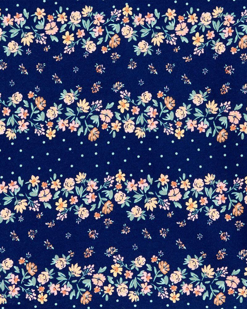 Haut à nœud aux manches à rayures et fleurs, , hi-res