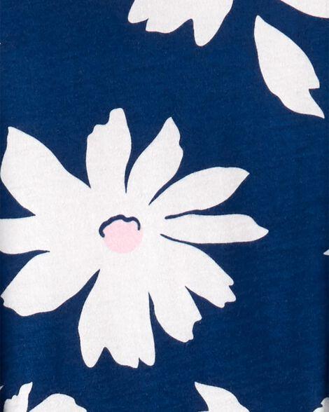Ensemble 2 pièces haut en jersey fleuri et legging