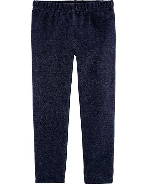 Knit Denim Leggings