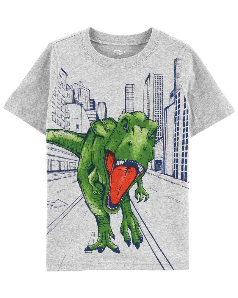 T-shirt à imprimé tyrannosaure, , hi-res