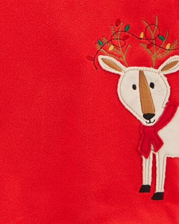 2-Piece Holiday Reindeer Fleece PJs