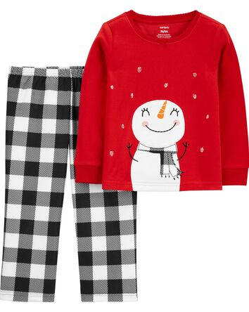 Pyjama 2 pièces en molleton à bonho...