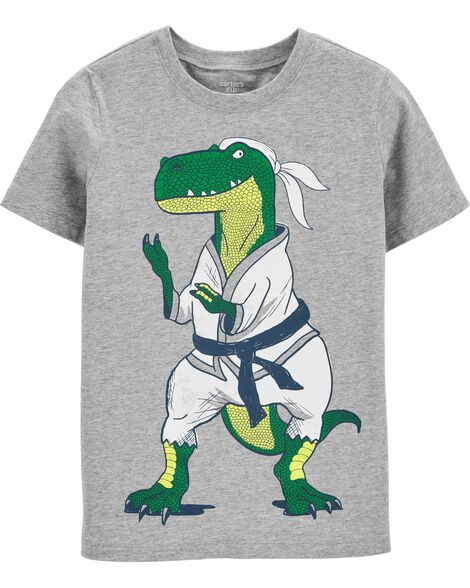 T-shirt en jersey dinosaure karaté