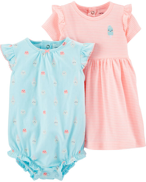 2-Piece Dress & Romper Set