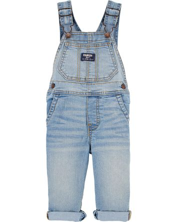 Stretch Denim Overalls