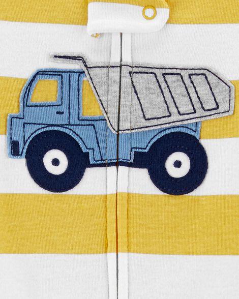 1-Piece Construction Truck Snug Fit Cotton Footless PJs