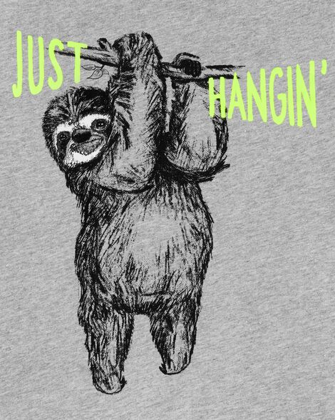 Just Hangin' Sloth Jersey Tee