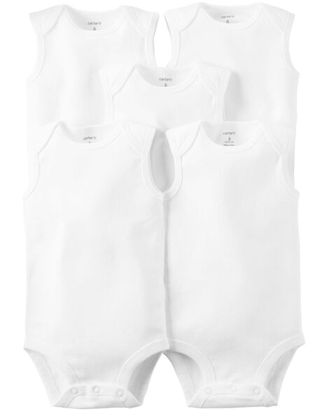 5-Pack Sleeveless Original Bodysuits