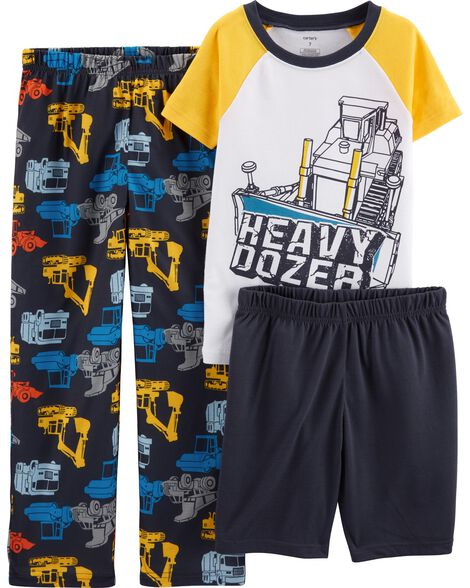 Pyjama 3 pièces en polyester à camion de construction