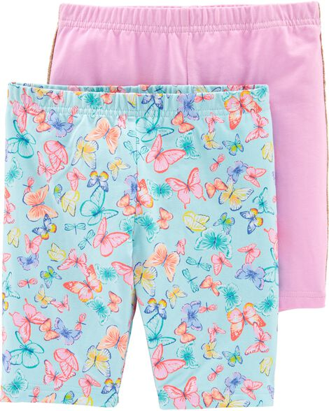 Ensemble de 2 shorts extensibles à motif de papillon