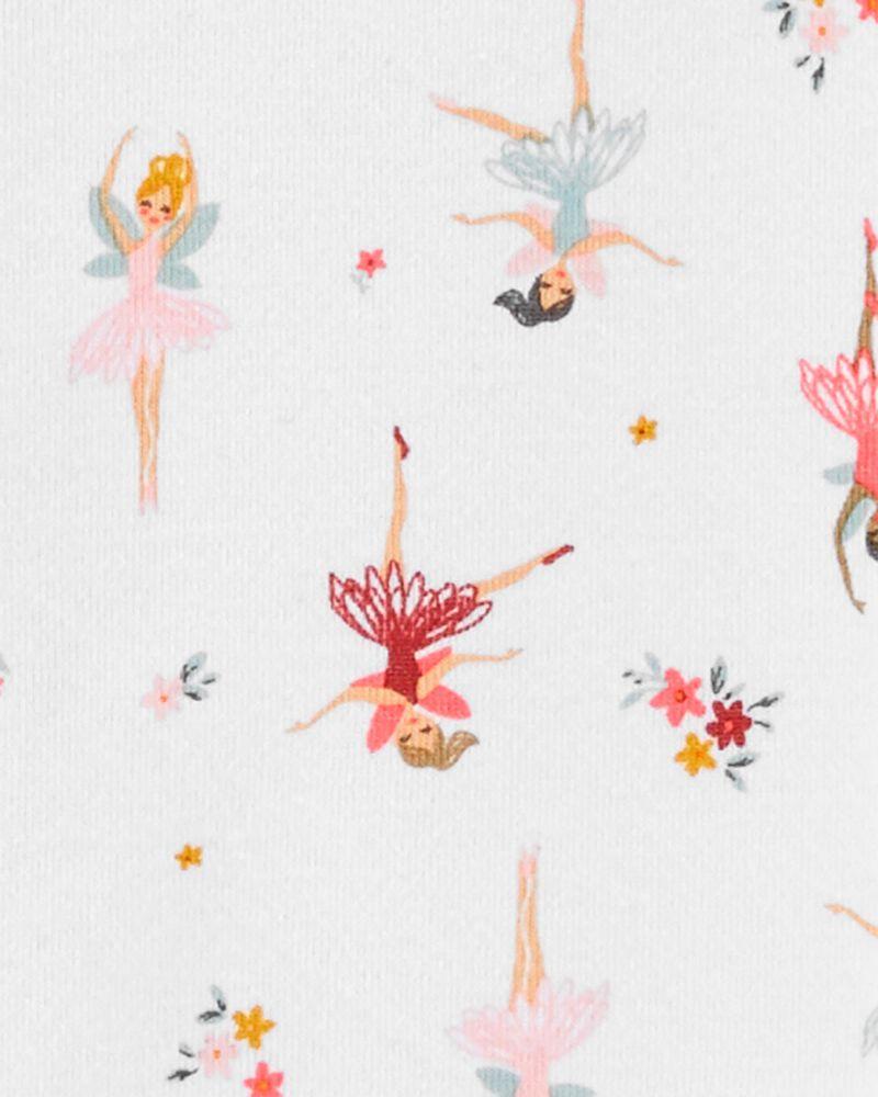 1-Piece Ballerina 100% Snug Fit Cotton Footie PJs, , hi-res