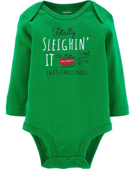 Sleighin' It Christmas Collectible Bodysuit