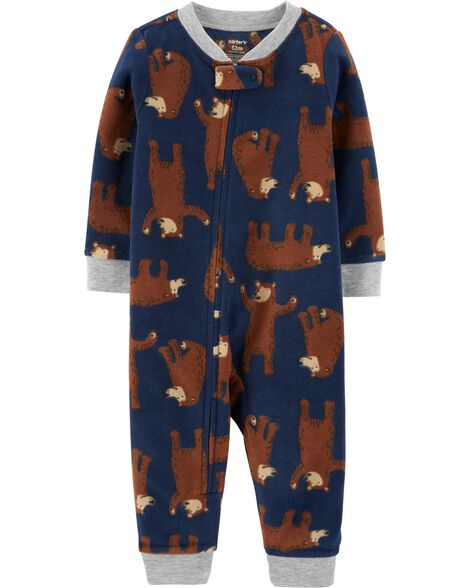 1-Piece Bear Fleece Footless PJs
