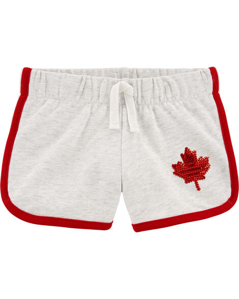 Canada Day Maple Leaf French Terry Shorts