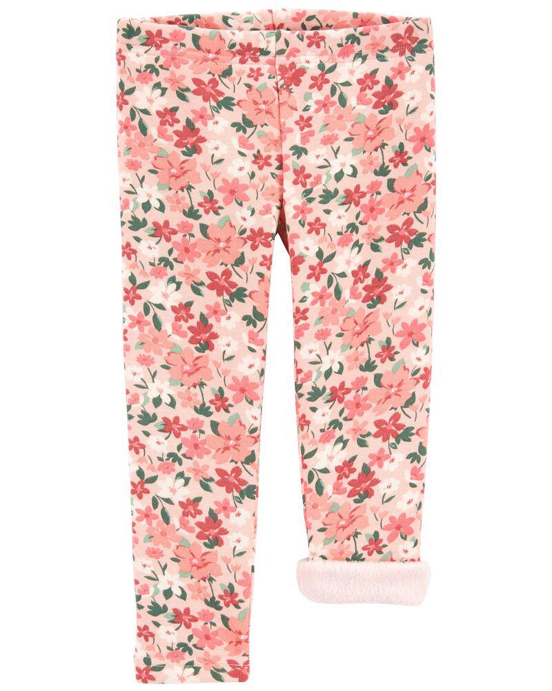 Floral Cozy Fleece Leggings, , hi-res