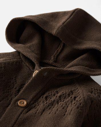 Combinaison à capuchon en tricot bi...
