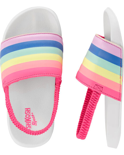 Rainbow Slip-On Sandals