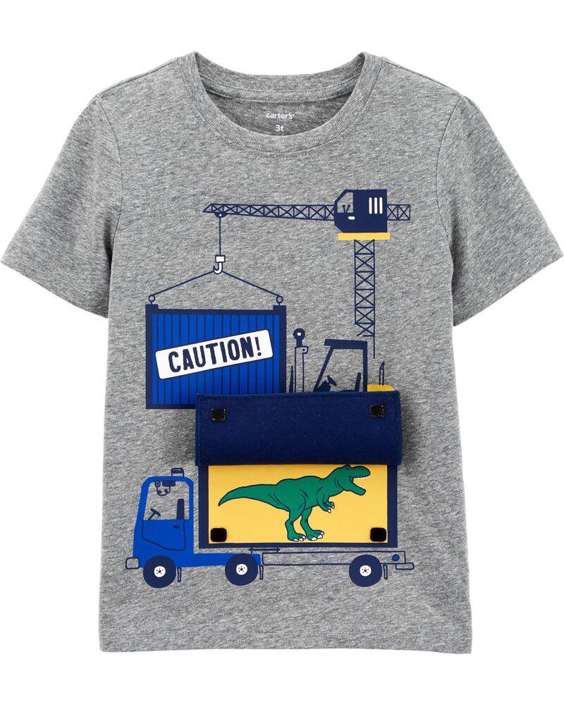 Construction Peek-A-Boo Jersey Tee, , hi-res