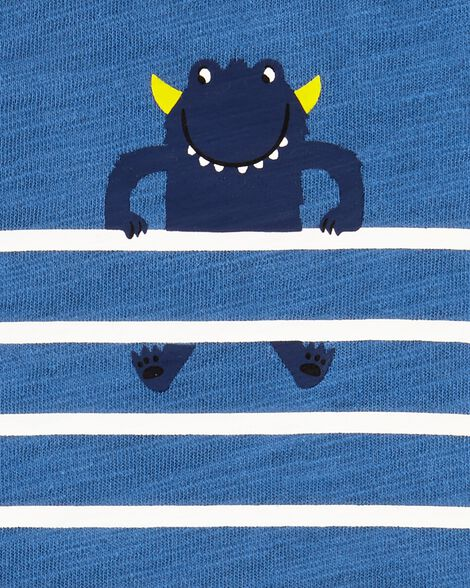 Striped Monster Slub Jersey Tee