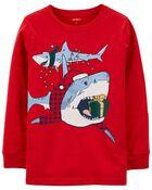 T-shirt en jersey requin des Fêtes, , hi-res
