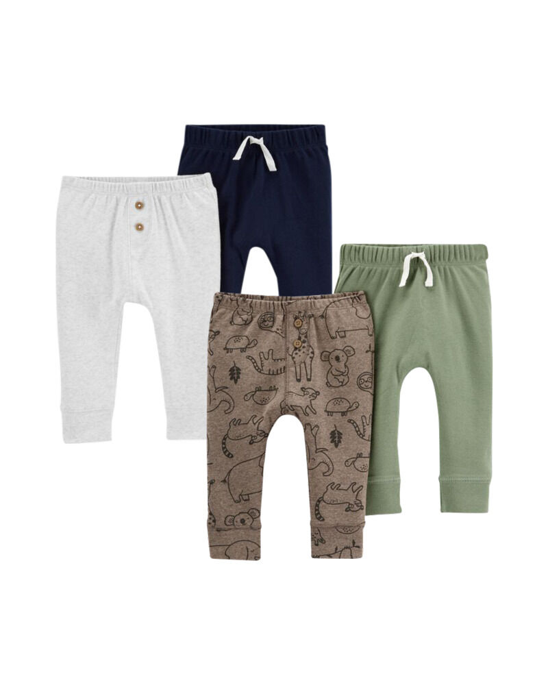 Emballage de 4 pantalons en coton, , hi-res