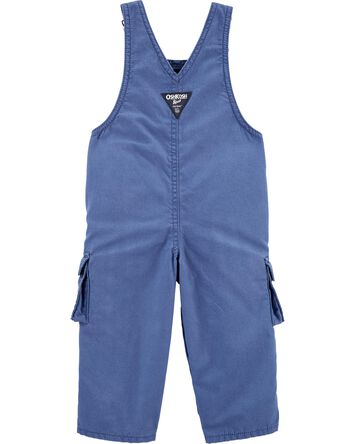 Jersey-Lined Cargo Overalls