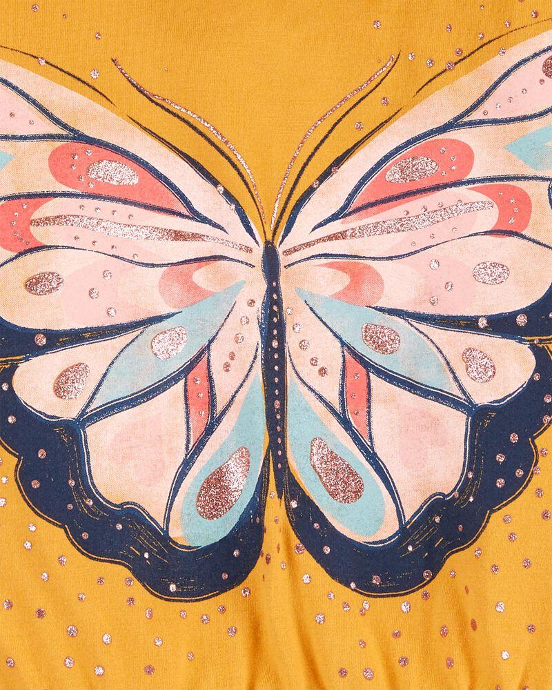 T-shirt à capuchon en jersey à papillon, , hi-res