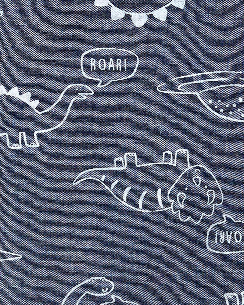 Ensemble 2 pièces chemise boutonnée en chambray et short  , , hi-res