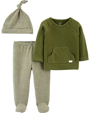 3-Piece Tee & Footed Pant Set