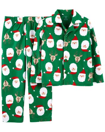 2-Piece Holiday Coat-Style Fleece P...