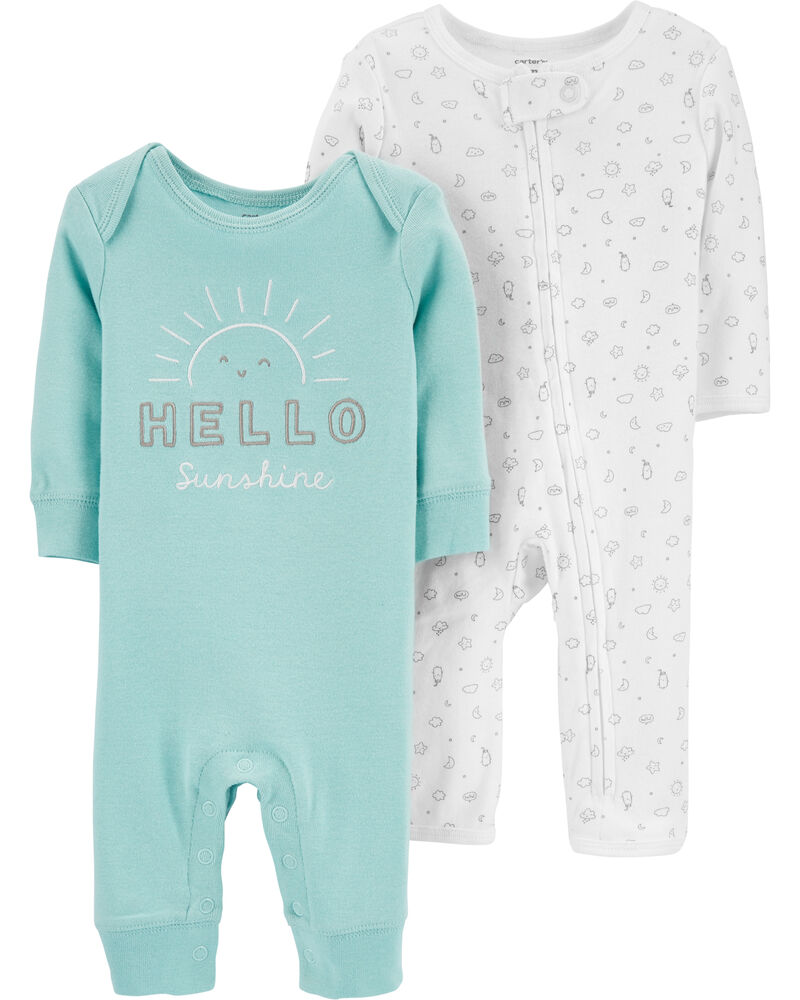 2-Pack Sunshine Jumpsuits, , hi-res