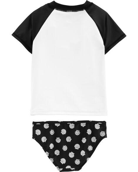 2-Piece Heart UV Swim Shirt Set
