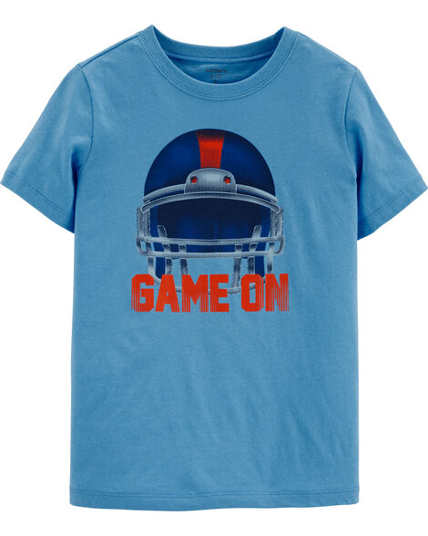 Football Helmet Jersey Tee