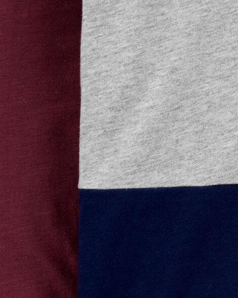 Colourblock Jersey Henley
