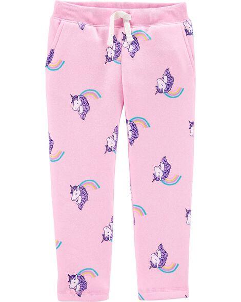 Pantalon en molleton avec licorne