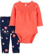 2-Piece Lace Bodysuit Pant Set, , hi-res
